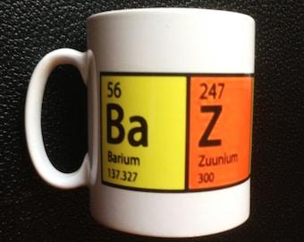 BAZINGA Mug with Chemical Symbols