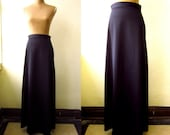 SALE-Vintage High Waisted Black Maxi Skirt