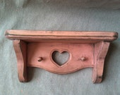 Upcycled Pink Heart Shelf and Hanger