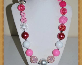 Breast Cancer Inspired Chunky Necklace