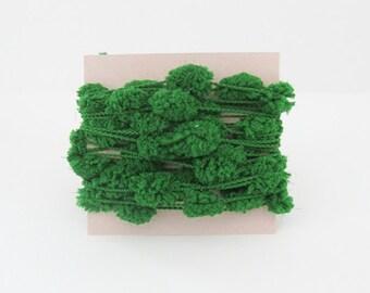 Pom Pom Garland Emerald Glitter String Yarn Green Trim 6 Yards