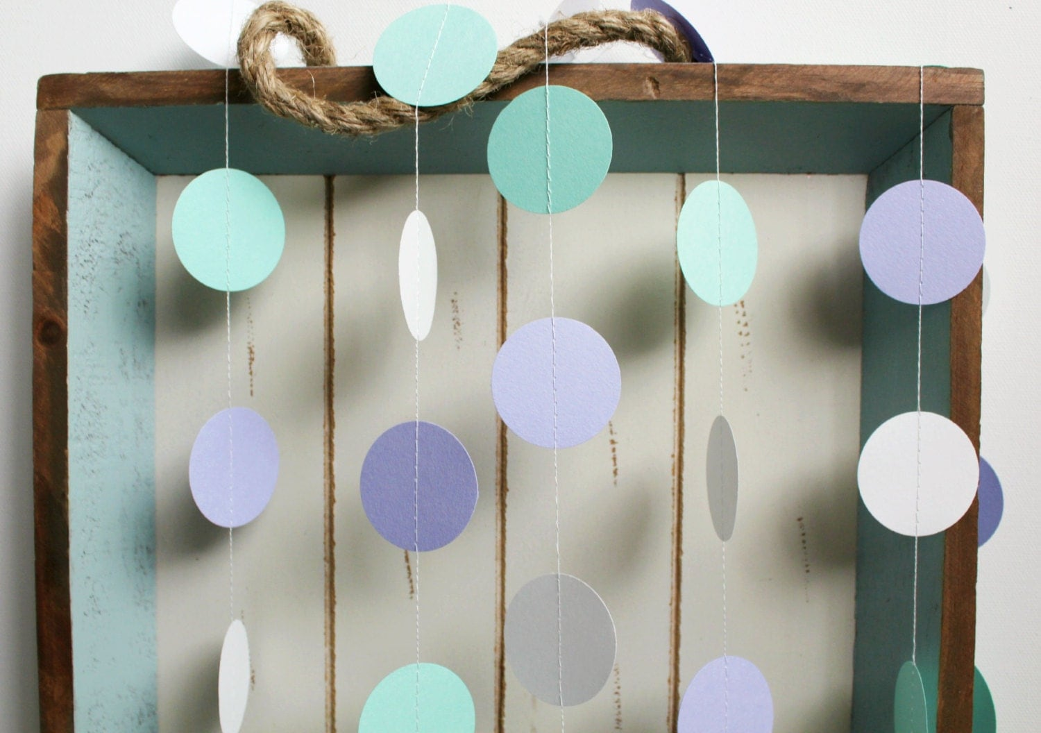 purple and green baby shower decorations.  zoom Mint Green Purple Lavender and White 12 ft Circle Paper