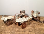 Vintage Set of Metal Roller Skates