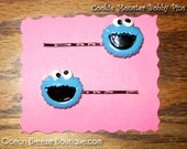 Cookie Monster Hair Pins - Set of Two