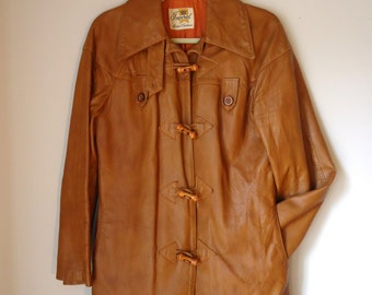 Vintage 1970s Mens Leather Jacket - Imperial Leather & Sportswear