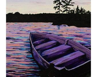 White Lake Sunset, Photo Print