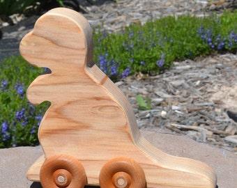 Redwood Push T-Rex, Handmade, Heirloom Toy