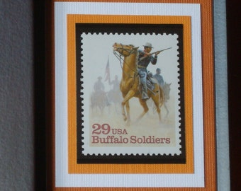 Buffalo Soldiers - Framed Postage Stamp - No. 2818