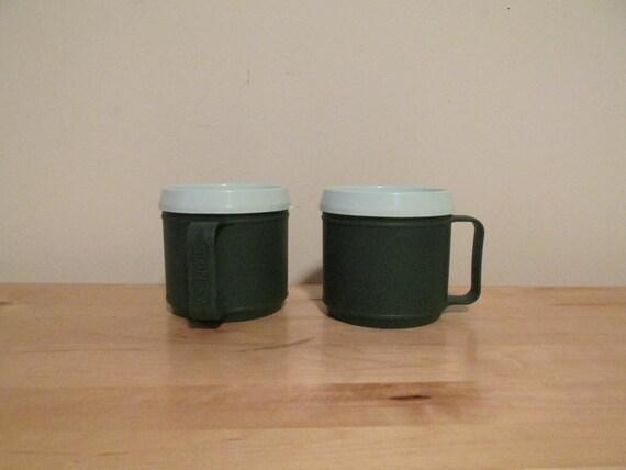 Set Of 2 Stanley Aladdin Plastic Coffee Mugs 12 Oz