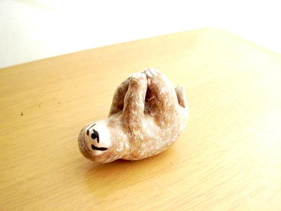 Sloth Ornament Sloth Miniature Figurine Polymer Clay Sloth