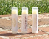 Raspberry Earl Grey - Shea and Cocoa Butter Lip Balm - Clear tube