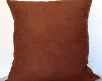 2 Pillow Covers 20x20 inch-Free US Shipping - Caramel Brown Microfiber Pillow Covers