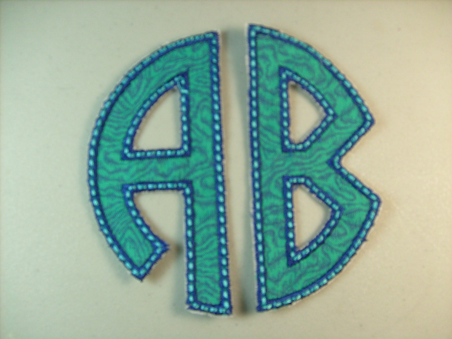 Two letter monogram iron on or sew on applique for Sew on letters for clothing