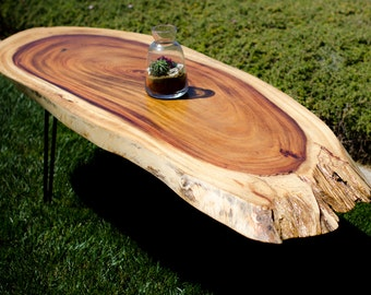 Natural Live edge exotic tropical coffee table