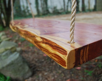 Solid Cedar Tree Swing