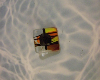 Handmade Fused Glass  Button