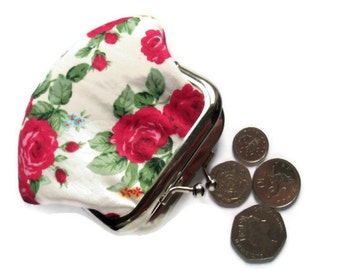 Small Fabric Coin Purse - Coin Purse - Change Purse - Framed Coin Purse - Change Wallet
