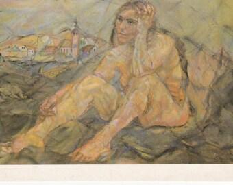 Large Oskar Kokoschka Art  Postcard - 216b
