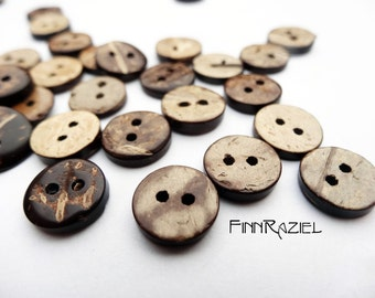 8 real coconut buttons ø13mm wooden buttons