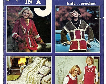 Quick and Easy Fashions in a Jiffy to Knit and  Crochet Pattern Book 17430