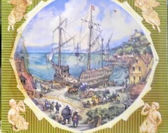Metal Tin Nautical Ship Theme Made in England Nice and Roomy