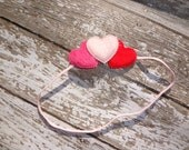 SALE FREE SHIPPING Simple Valentine's Day headband or clip newborn, baby toddler, child adult