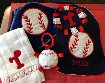 Personalized Baby Gift Set - Baseball