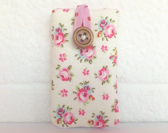 Padded Case for iPod Nano 2015 7th / 8th Generation - Made in Cath Kidston Fabric