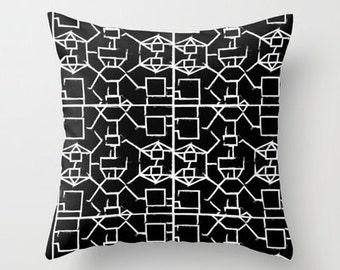 Pillow-Square Affair Black  20x20