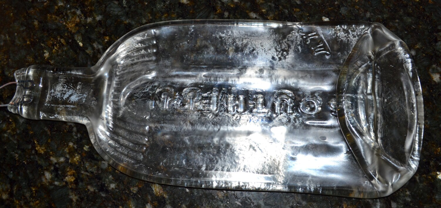 Clear Southern Comfort Whiskey Liquor Liqueur Bottle hanging cheese tray wine