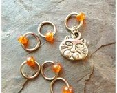Tabby Cat (ginger) Stitch Markers