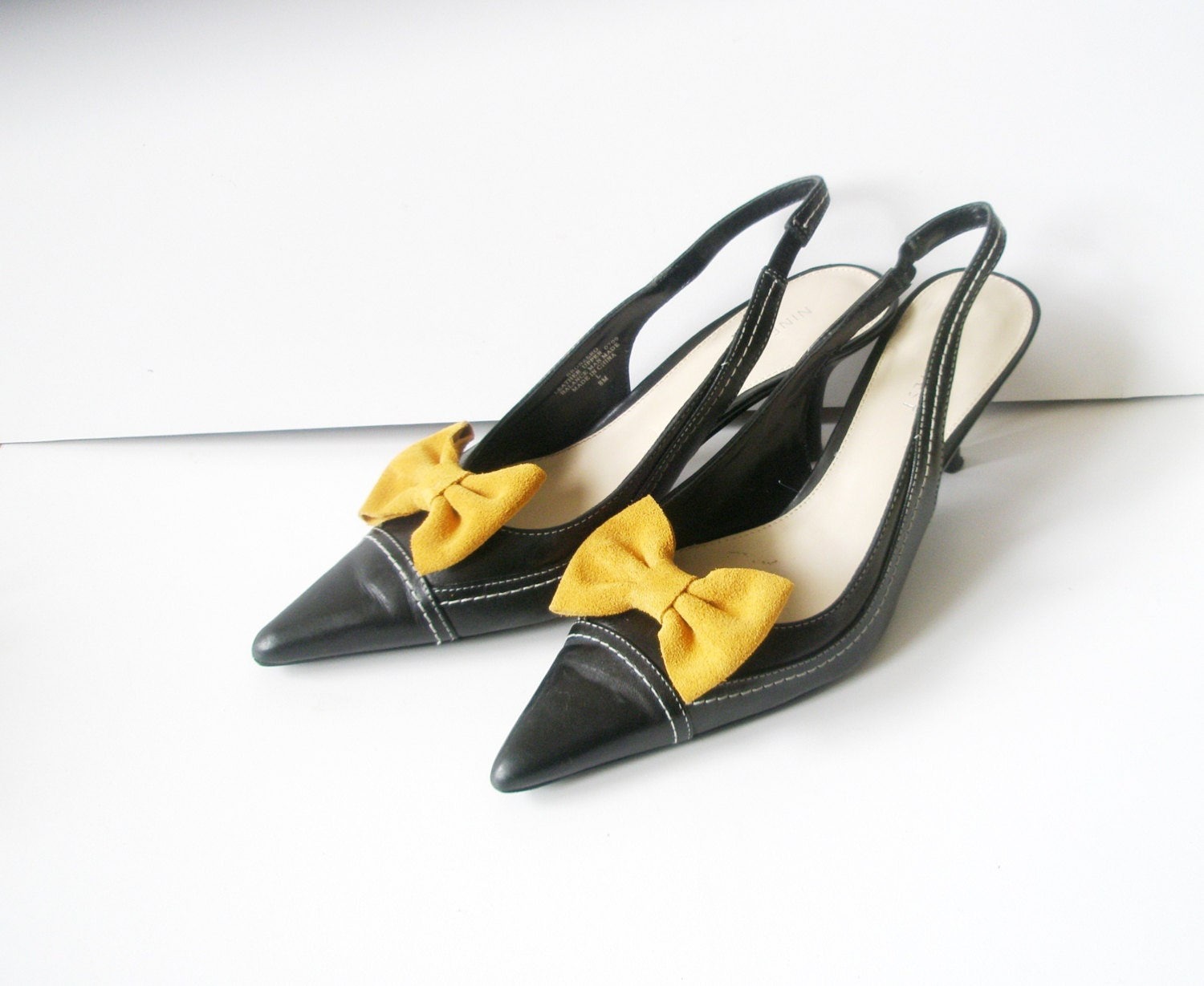 Leather Bow Shoe Clips