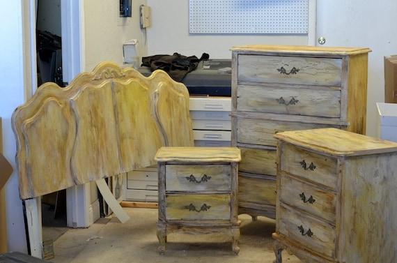 Distressed Wood Bedroom Set Headboard 5 By UptownArtsGranburyTX