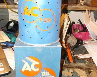 Vintage 1950s AC Oil Filter for Repurposing or Crafts NOS
