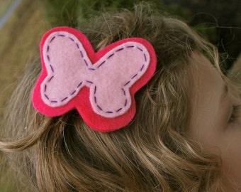 Butterfly Felt  Hair Clip