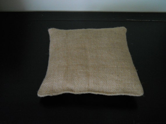 ring bearer pillow diy plain burlap ring bearer by