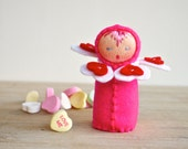 Valentines Day Heart Felt Doll - Hot Pink Love Token