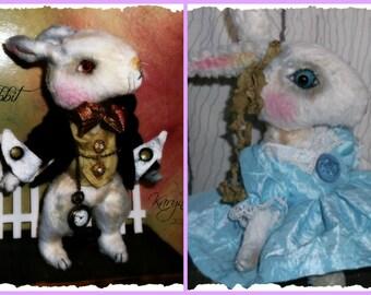 PDF EPattern  to make 9.5 inch 'Antonio' & 'Putunia'   Vintage Style Viscose or Mohair Rabbit  by Artist KarynRuby