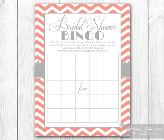 Wedding Shower Bingo Free PrintableShowerPrintable Coloring