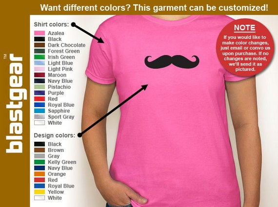 Mustache funny womens T-shirt — Any color/Any size - Adult S, M, L, XL, 2XL, 3XL