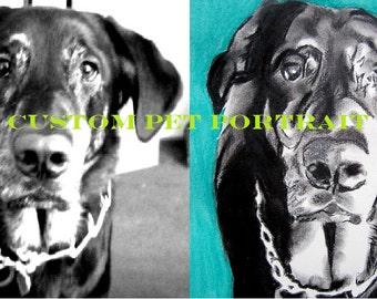 ORIGINAL Custom Pet Portrait