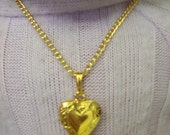"American Girl 18 "" inch Doll and Girl Gold Heart Genuine LOCKET Necklace Jewelry Accessories Bracelet Child"