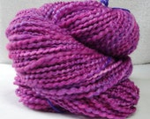 Handspun Yarn Red Violet with Purple Accents 041413