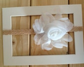 baby headband-elastic headband-newborn headband-headband-hair accessory-flower headband
