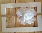 baby headband-elastic headband-newborn headband-headband-hair accessory-flower headband