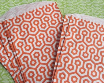 Set of 30 orange Honeycomb Paper