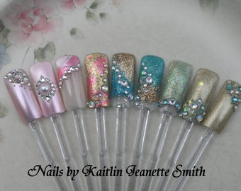 Prom Artificial Nail Art