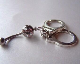 Handcuff Belly Ring Navel Jewelry Body Jewelry