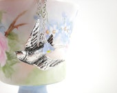 Morningstar's Silver Swallow Necklace