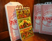 CIRCUS ANIMAL BIRTHDAY Party Favor: 50 page Handmade Mini Journal Book Packaged in a Peanut Bag